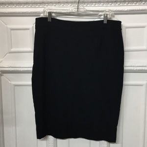 Valentino Skirts - Valentino Virgin Wool Knee Length Black Skirt